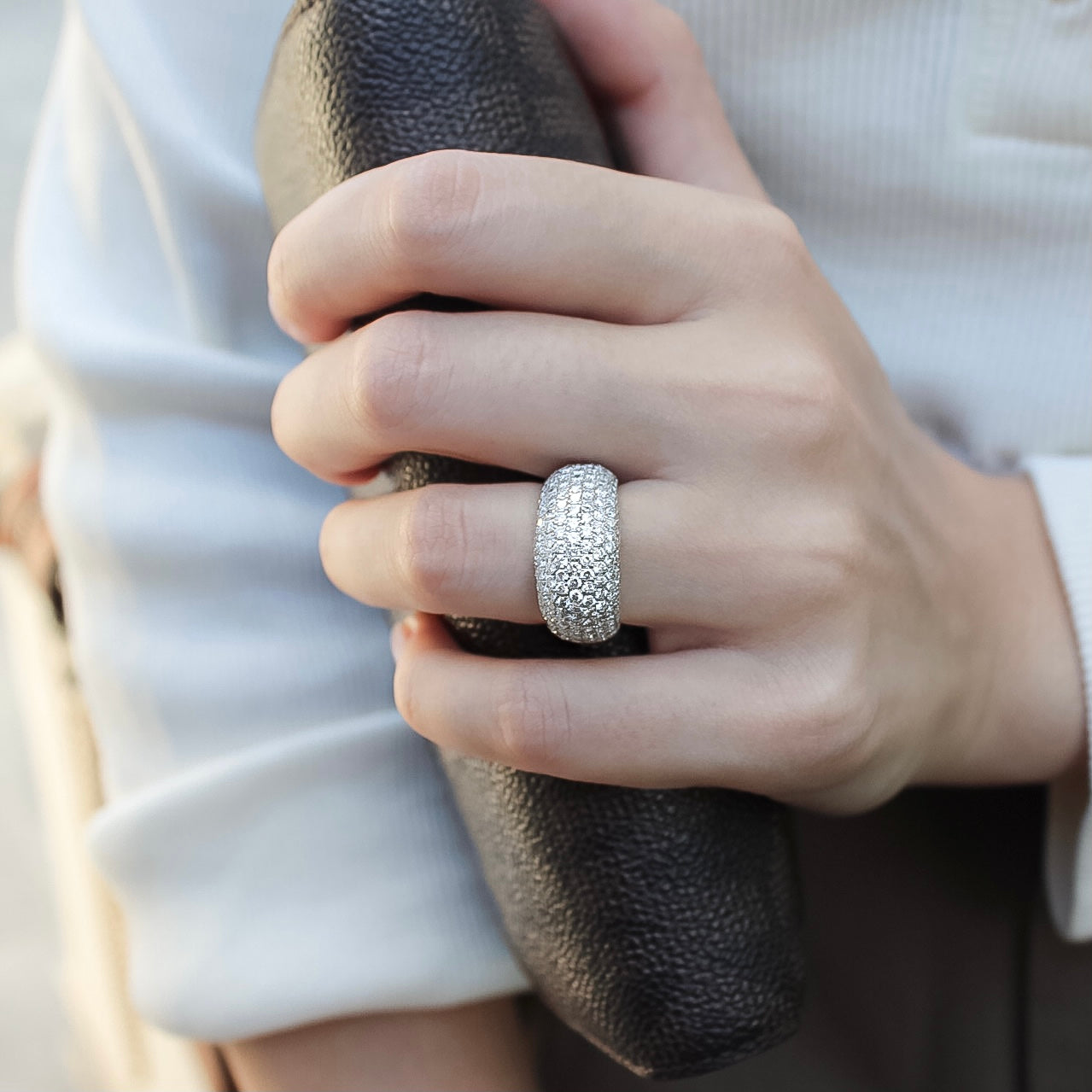 Peleg • Curved Pave Diamond Ring