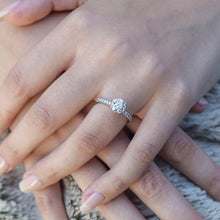 Load image into Gallery viewer, Darling Rose Diamond Engagement Ring