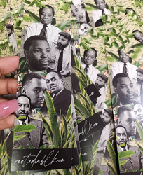 "Black Men's Writer Bookmark (2x7"")"