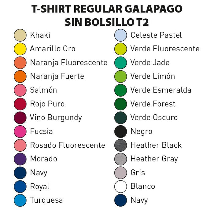 T-SHIRT REGULAR GALAPAGO SIN BOLSILLO T2 - t-shirts-interamerica-s-a