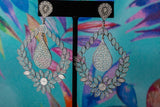 Athena's Wisdom- Floral Teardrop Earrings
