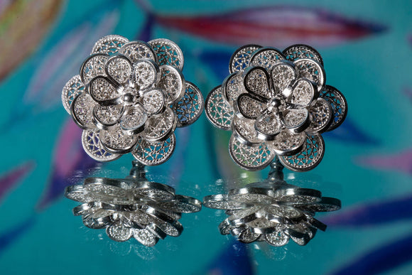 Endless Bloom Floral Stud Earrings