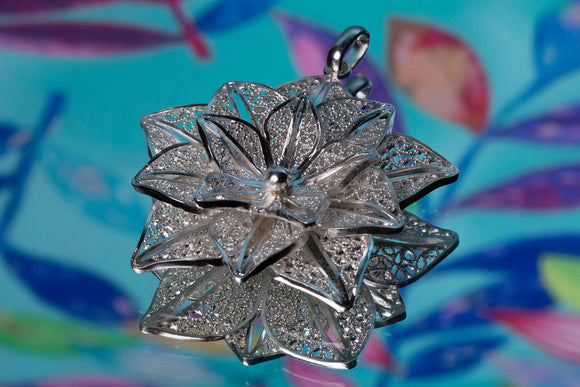 Blooming Lotus- Flower Pendant