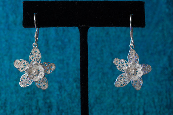 Star Fish  Floral Dangle Earrings