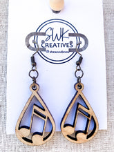 Load image into Gallery viewer, Music Note Earrings