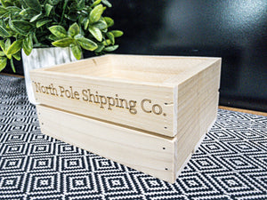 """North Pole Shipping Co"" Crate"