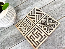 "Load image into Gallery viewer, Geometric 4"" Coasters"