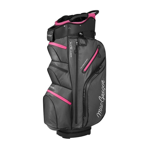 "MACTEC Ladies Water Resistant 10"" Cart Bag, Charcoal/Fuchsia"