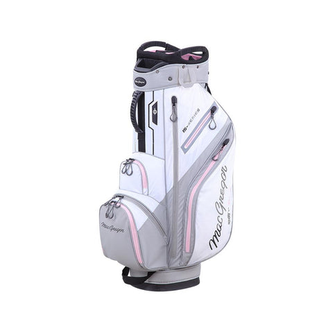 "Ladies 15-Series Water Resistant 10"" Cart Bag, White/Orchid"
