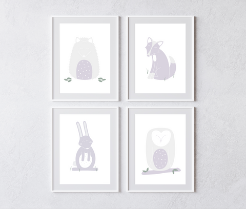 Woodland Collection (set of 4 prints)