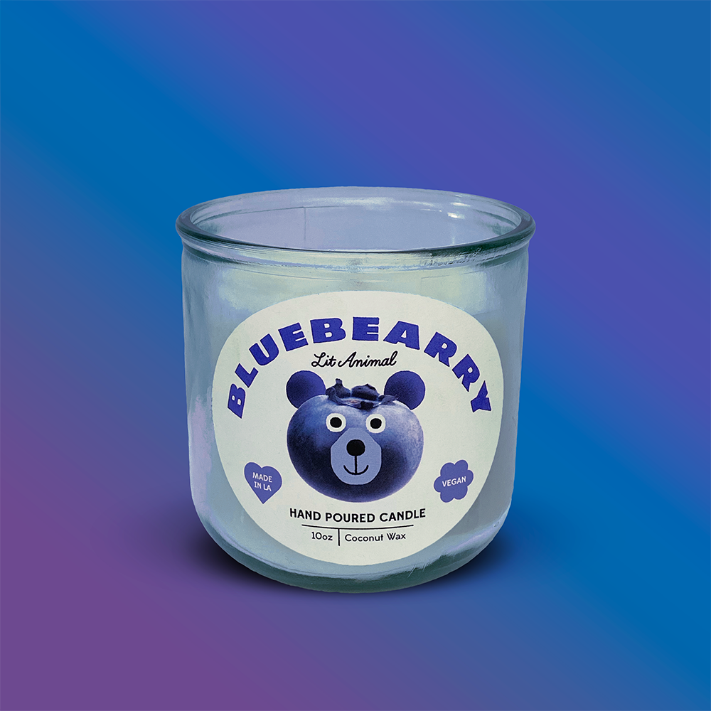 BLUEBEARRY: Blueberry Cheesecake Hand Poured Candle