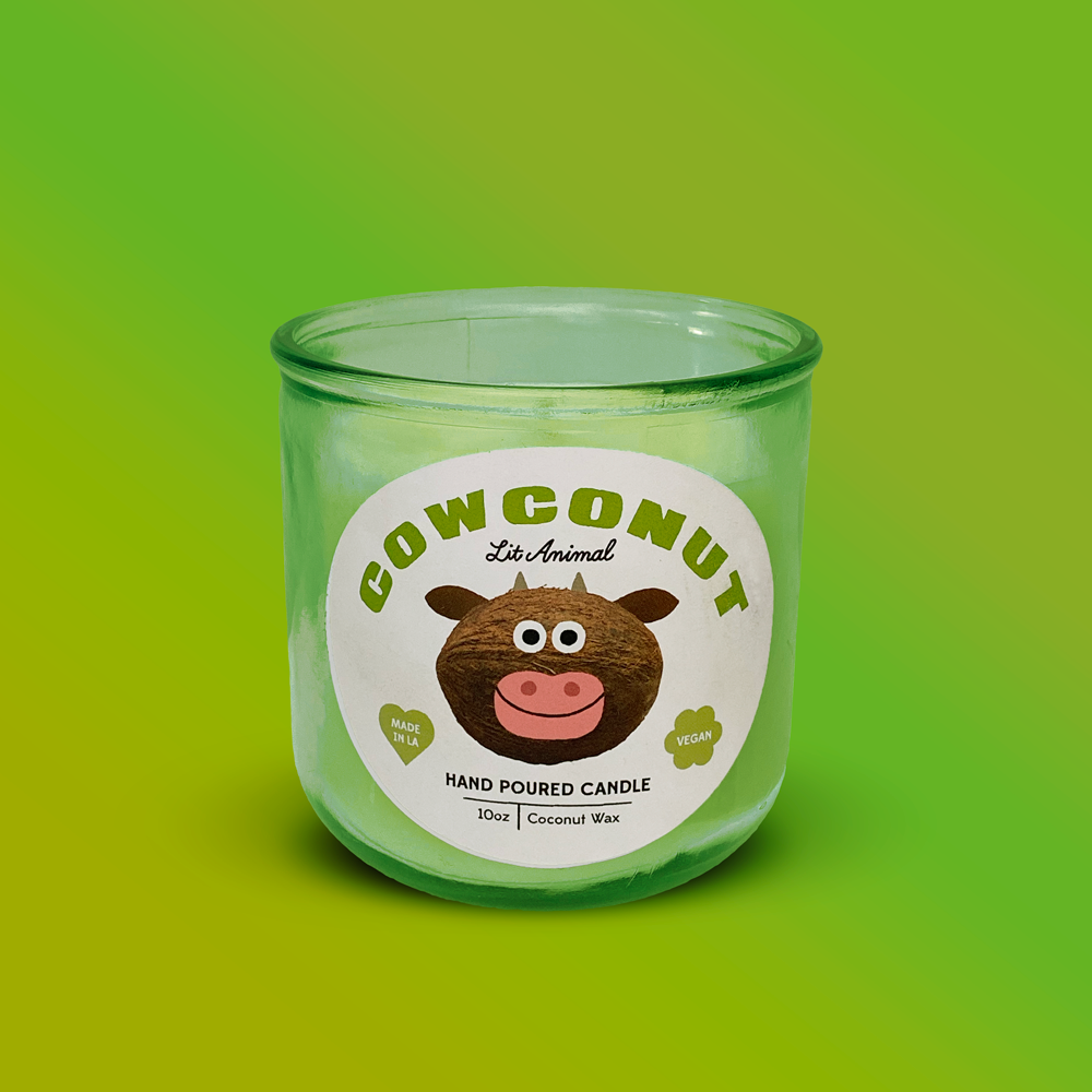 COWCONUT: Coconut-Vanilla Hand Poured Candle