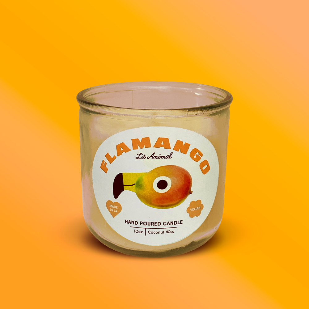 FLAMANGO: Tropical Fruit Hand Poured Candle