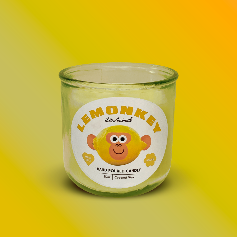 LEMONKEY: Lemon Verbena Hand Poured Candle