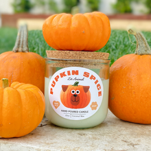 Load image into Gallery viewer, PUPKIN SPICE: Pumpkin Spice Hand Poured Candle