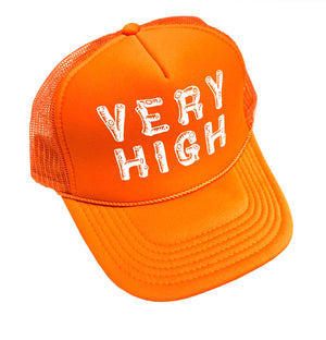 """Very High"" Orange Trucker Hat"