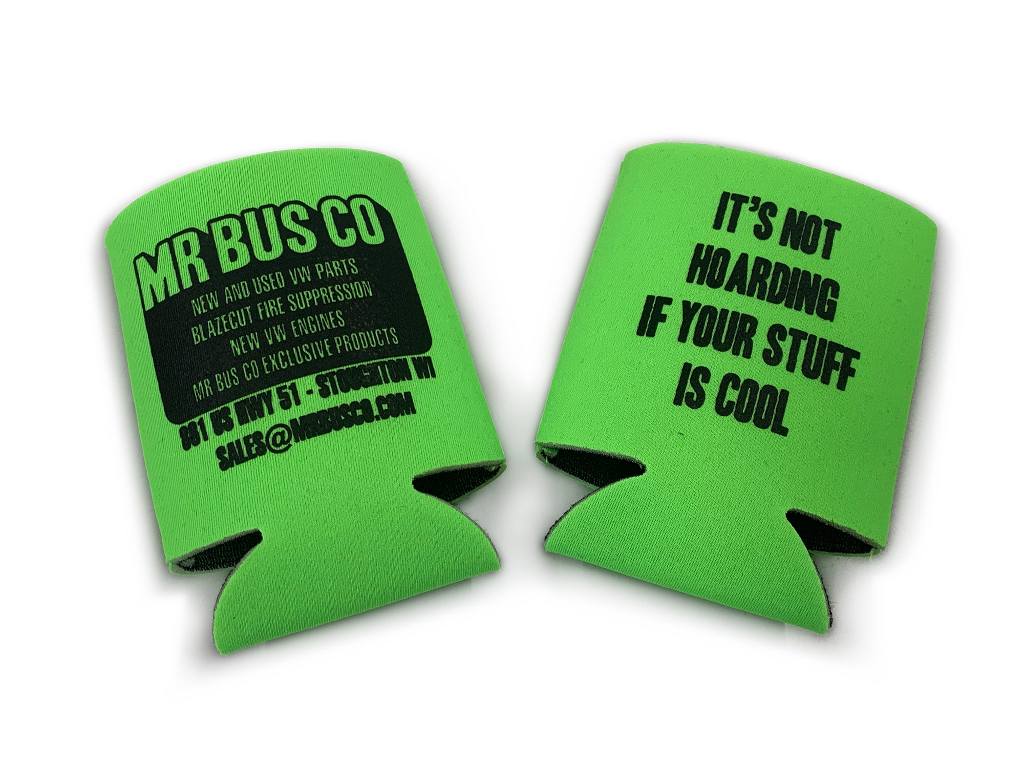MR BUS CO Can Coozie - Safety Green