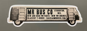 LONG BUS DieCut Mr Bus Co Bumper Sticker 2x6""