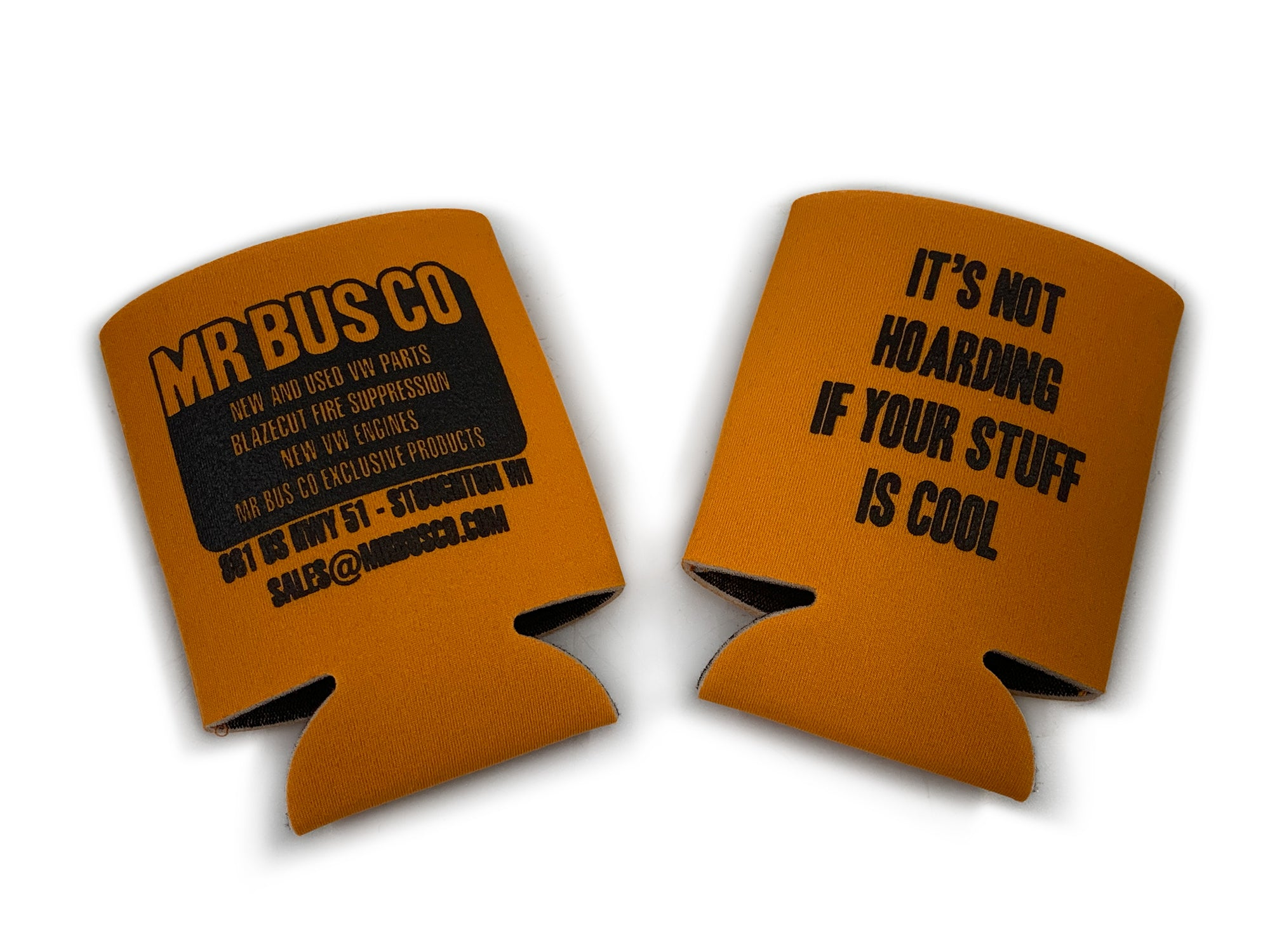 MR BUS CO Can Coozie - Orange