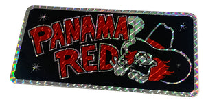 "GIANT 12x6"" Panama Red Prismatic Sticker"