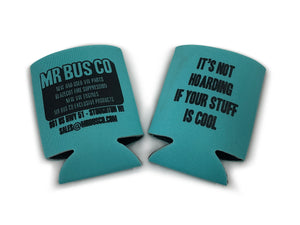 MR BUS CO Can Coozie - Light Blue / Teal