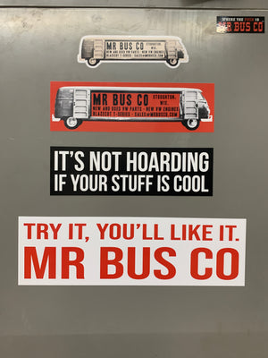LONG BUS Mr Bus Co Bumper Sticker 3x10""