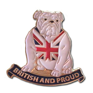 British and Proud Bulldog Lapel Badge