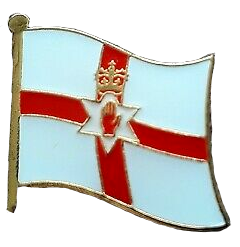 Waving Ulster Flag Lapel Badge