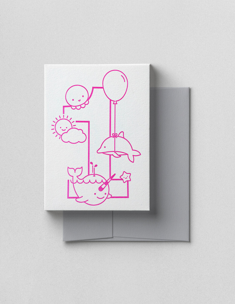 First Birthday Letter Press - Pink