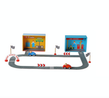 Load image into Gallery viewer, Racing Car Playset with Puzzle Road