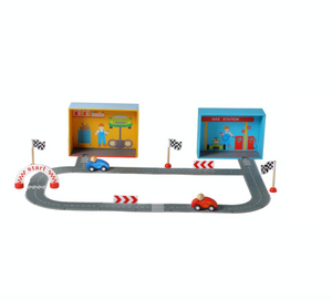 Racing Car Playset with Puzzle Road