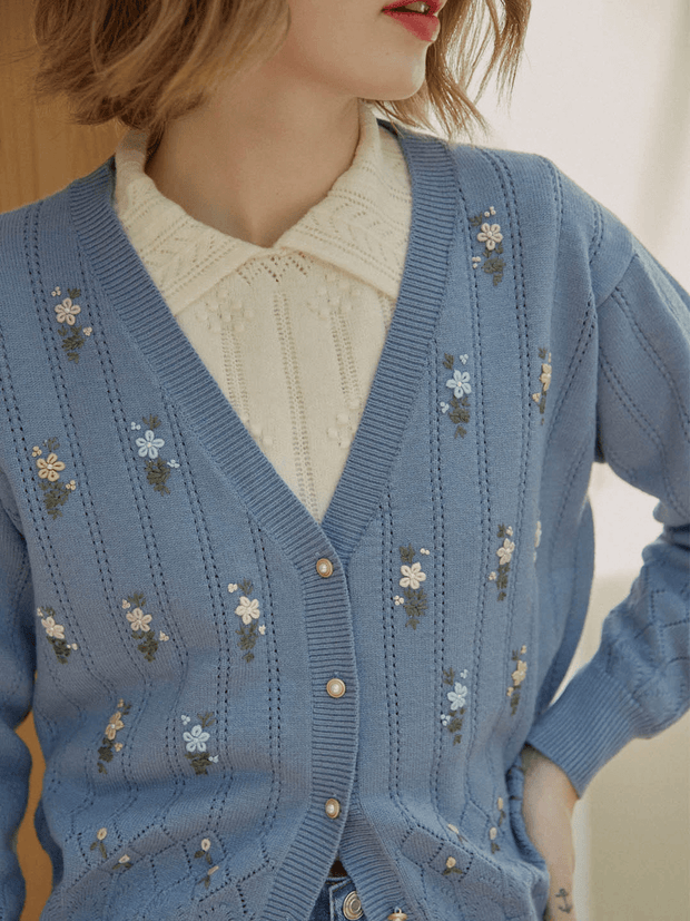 Cardigan au Crocheté à La Main Ally-Simple Retro FR