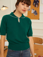 Blouse à Manches Courtes Jannie-Simple Retro FR