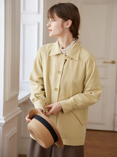 Veste Retro Jaune-Simple Retro FR
