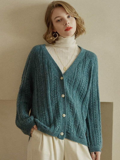 Cardigan Edana Simple Retro 22123 Cardigan Gilet Veste