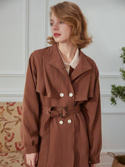 Trench-Coat à Ceinture Tess-Simple Retro FR