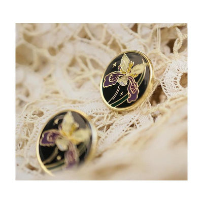 Boucles d'Oreilles Iris CHOWXIAODOU-Simple Retro FR