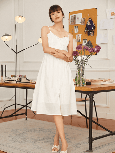 Robe à Bretelles en Coton Adela-Simple Retro FR