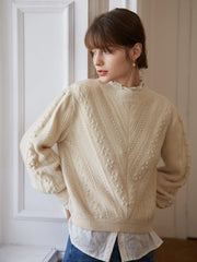 Sweater Abricot-Simple Retro FR