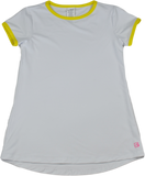 Lindsay Long T - White / Yellow Athleisure