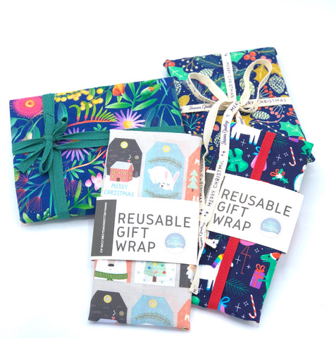 Reusable wrapping paper for Christmas gift idea