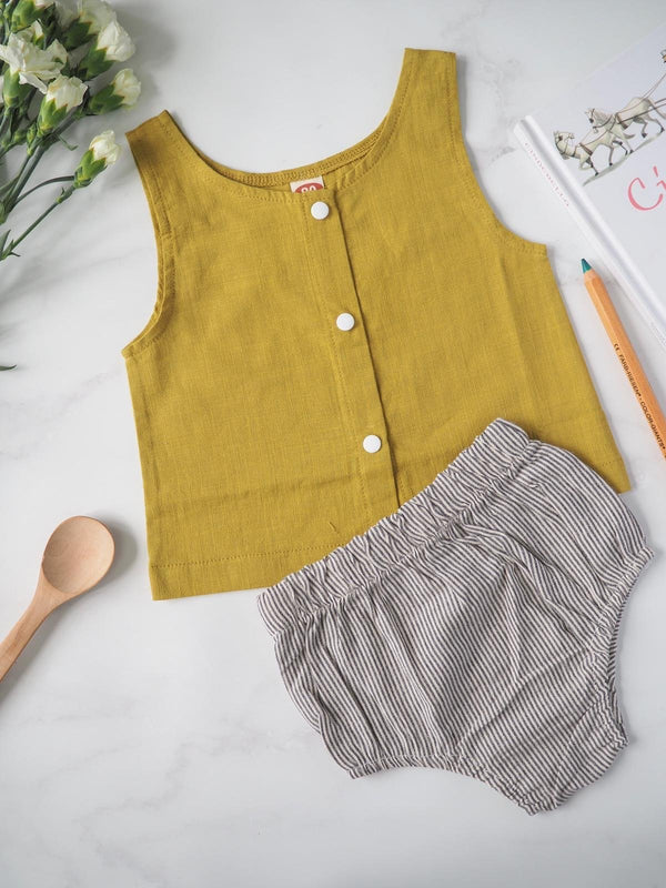 Linen Tunic and Bloomer Set for Baby - The Sustainable Life Co.
