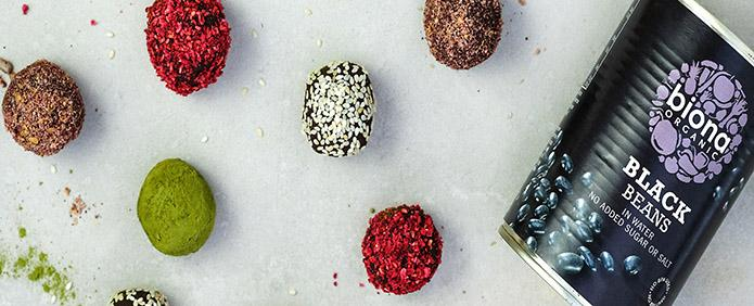 Black Bean Chocolate Protein Balls by Biona