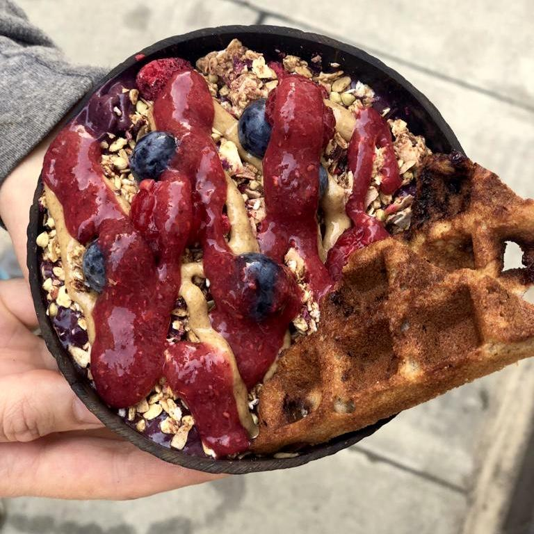 Raw Press PBJ Açaí Bowl Recipe