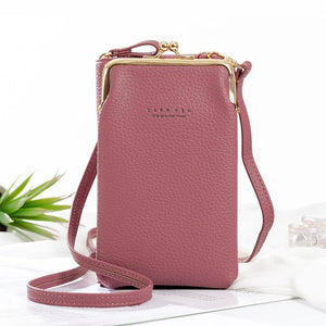 Women Phone Bag Solid Crossbody Bag
