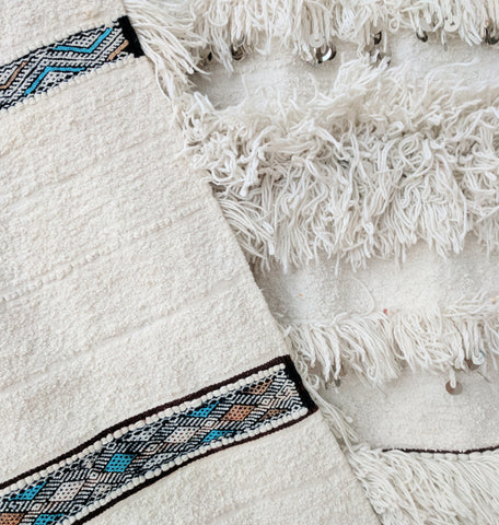 vintage Moroccan wedding blanket kilim