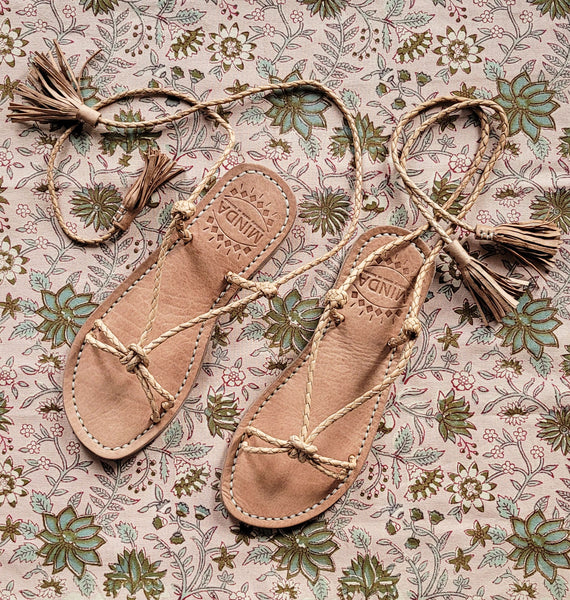 Honey Tassel Sandal