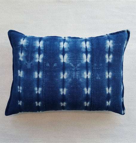 Oversized indigo pillow