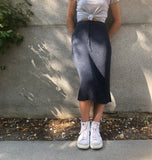 Rib Skirt in Indigo
