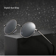 Load image into Gallery viewer, Retro Classic Vintage Round Polarized Sunglasses Men Brand Designer Sun Glasses Women Metal Frame Black lens Eyewear Driving